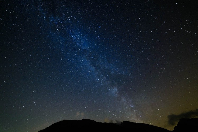 Voie lactée en Valais suisse un soir d'aout.