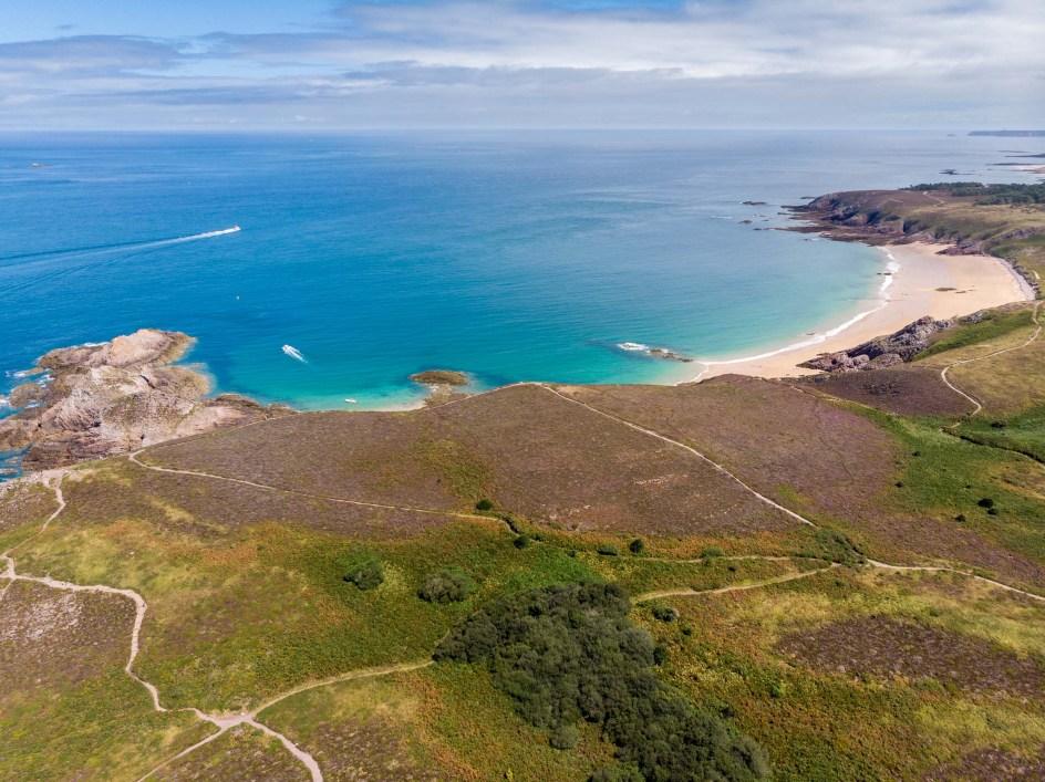 La plage de Lourtuais au Cap d'Erquy