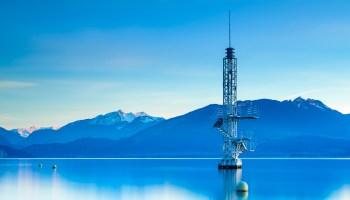 Fin de journée sur le lac d'Annecy
