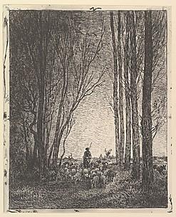 """La Gardeuse de Chèvres"", de Charles-François Daubigny"