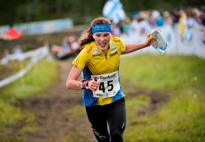 Sweden's Tove Alexandersson finishes second in the women's long distance final of the IOF World Orienteering Championships 2013 in Vuokatti, July 9, 2013. REUTERS/Roni Rekomaa/Lehtikuva (FINLAND - Tags: SPORT) THIS IMAGE HAS BEEN SUPPLIED BY A THIRD PARTY. IT IS DISTRIBUTED, EXACTLY AS RECEIVED BY REUTERS, AS A SERVICE TO CLIENTS. NO THIRD PARTY SALES. NOT FOR USE BY REUTERS THIRD PARTY DISTRIBUTORS. FINLAND OUT. NO COMMERCIAL OR EDITORIAL SALES IN FINLAND
