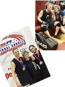 2017 National Doubles Champions Rocky Carson& Jose Diaz w Coach Fran Davis