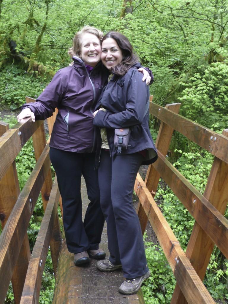 Sunday hike:  Dayna and Fran