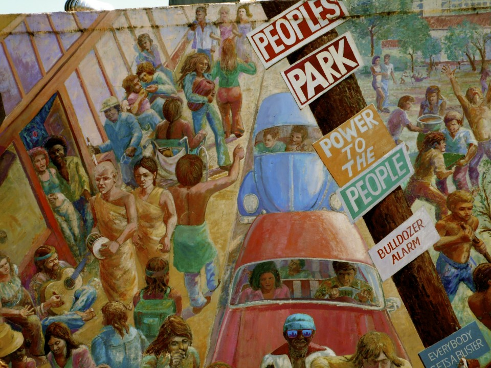 Mural from People's Park in Berkeley near Telegraph Avenue