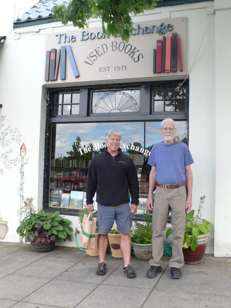 And back in Ashland, Rick stands with Roy, the owner of the best used book store in town (in my humble opinion), The Book Exchange.