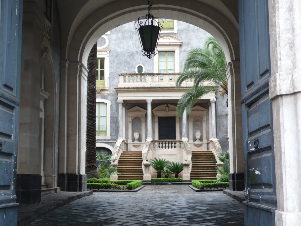 The old university in Catania