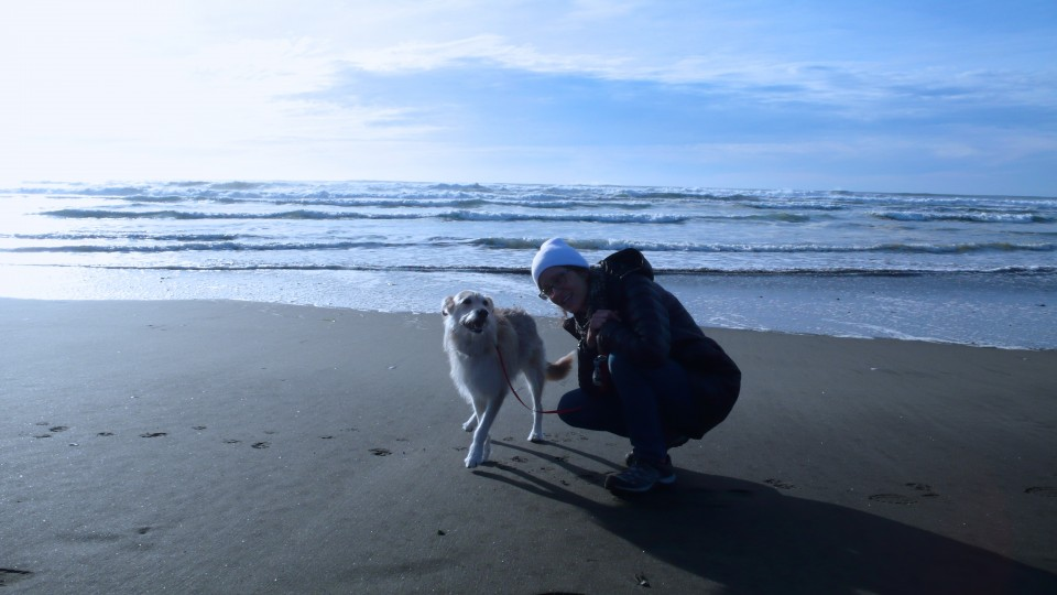 Happiness (Ocean Shores winter walk)