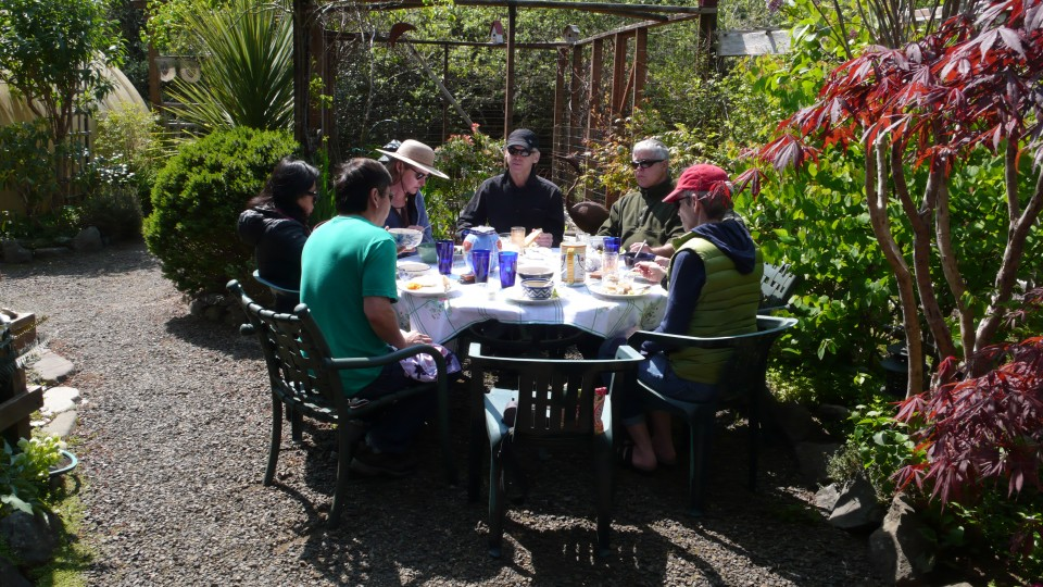 lunch outside in April!