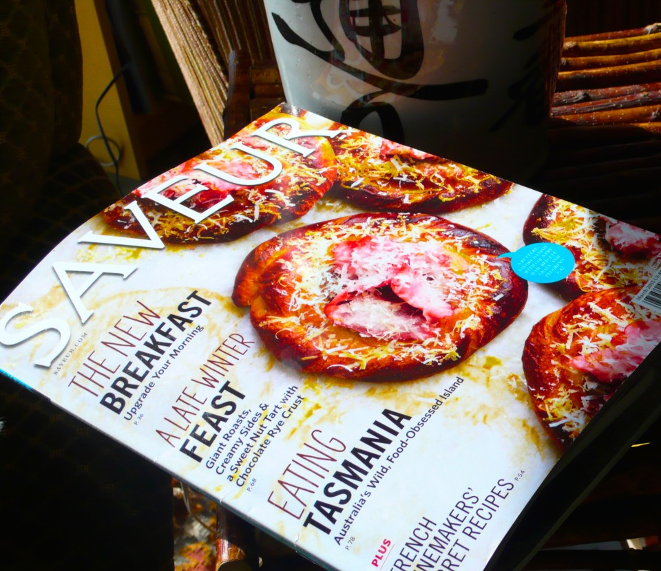 A cooking magazine lying about