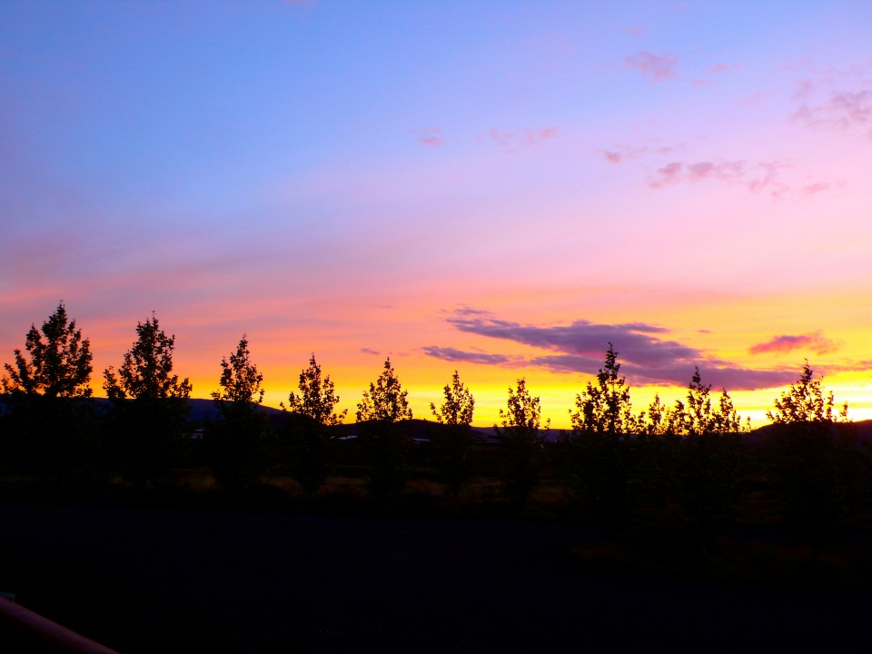 Sunset at Minniborgir