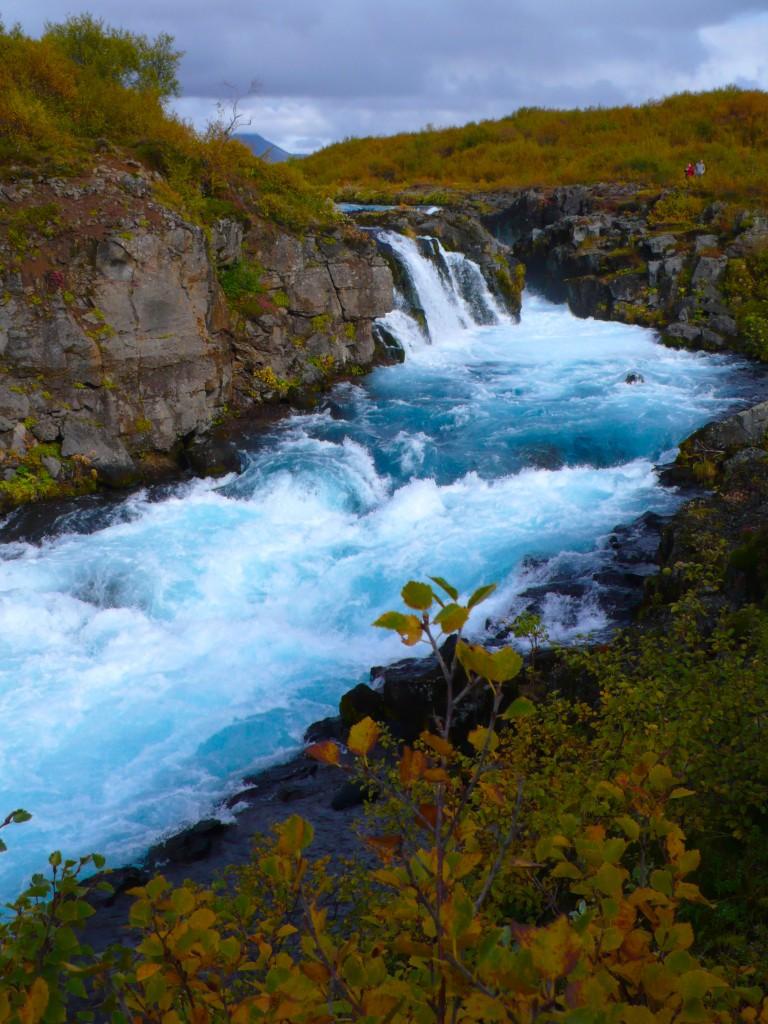 Glacial Blue Waterfall, a hidden gem...Buarfoss Waterfalls