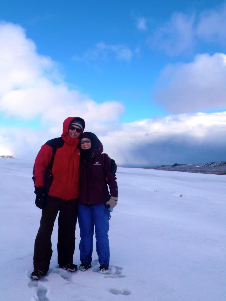 Doug Holman and Carwyn Hammond on the glacier