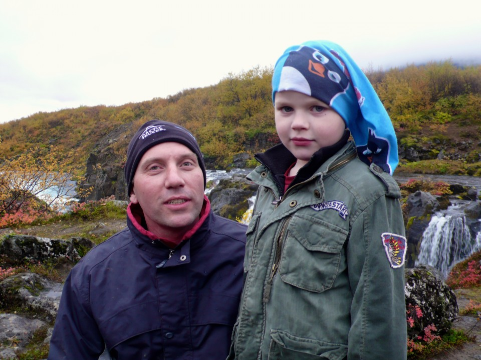 Our guide and driver, Einar and his son Darill.