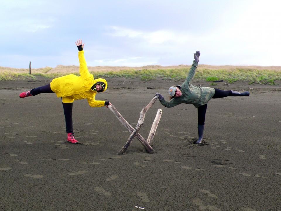 Beach Half Moons (impromptu driftwood props)