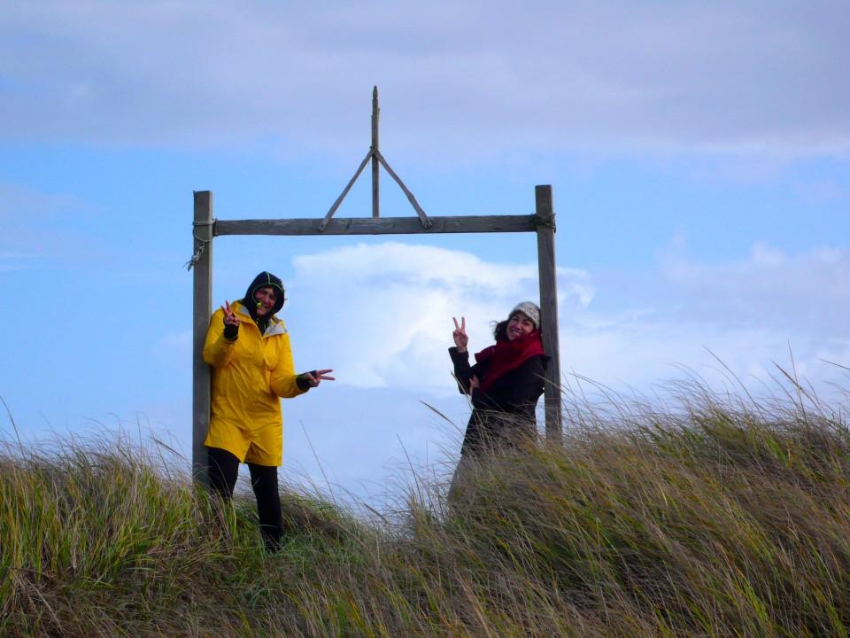 A frame beckons us