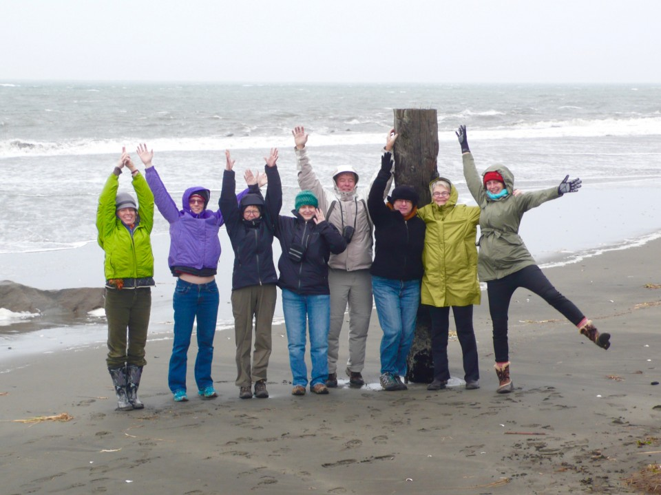 Our fantastic group of yogis who braved the winter storm today!!!