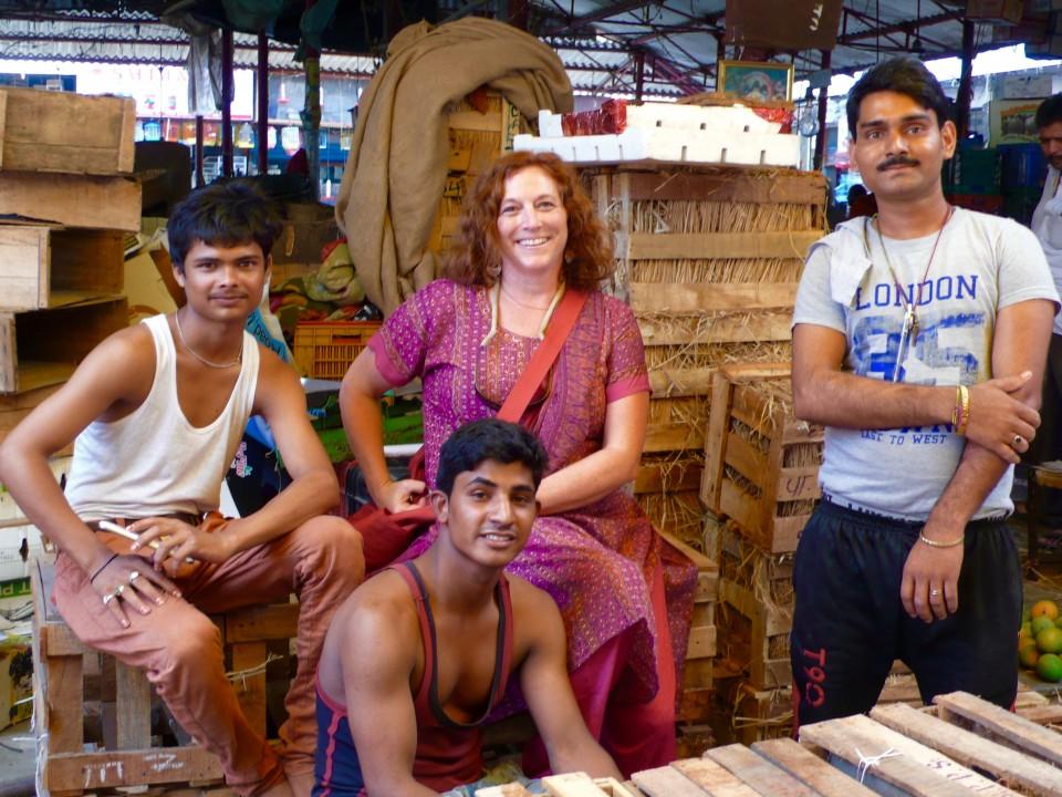 Cindi and the Market Vendors