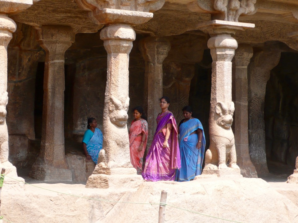The temples are truly beautiful, even more beautiful with the lovely ladies in their colorful sari.