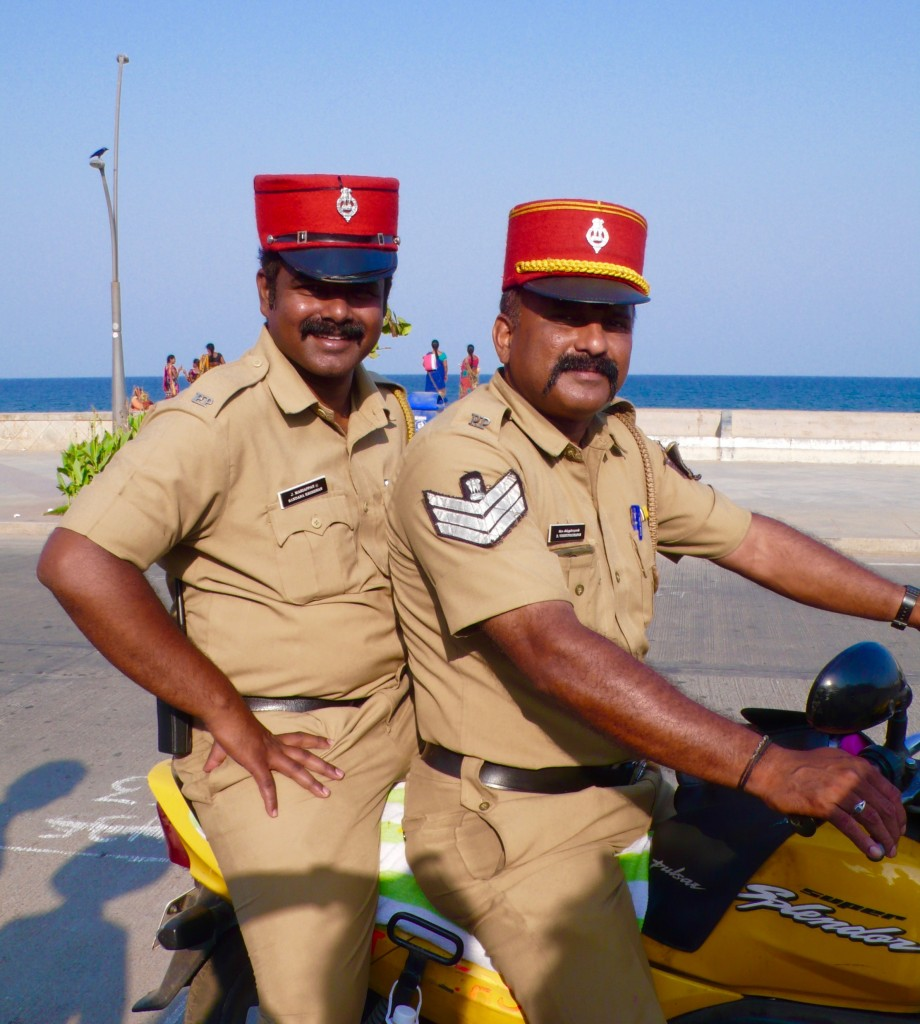 Friendly cops in Pondicherry
