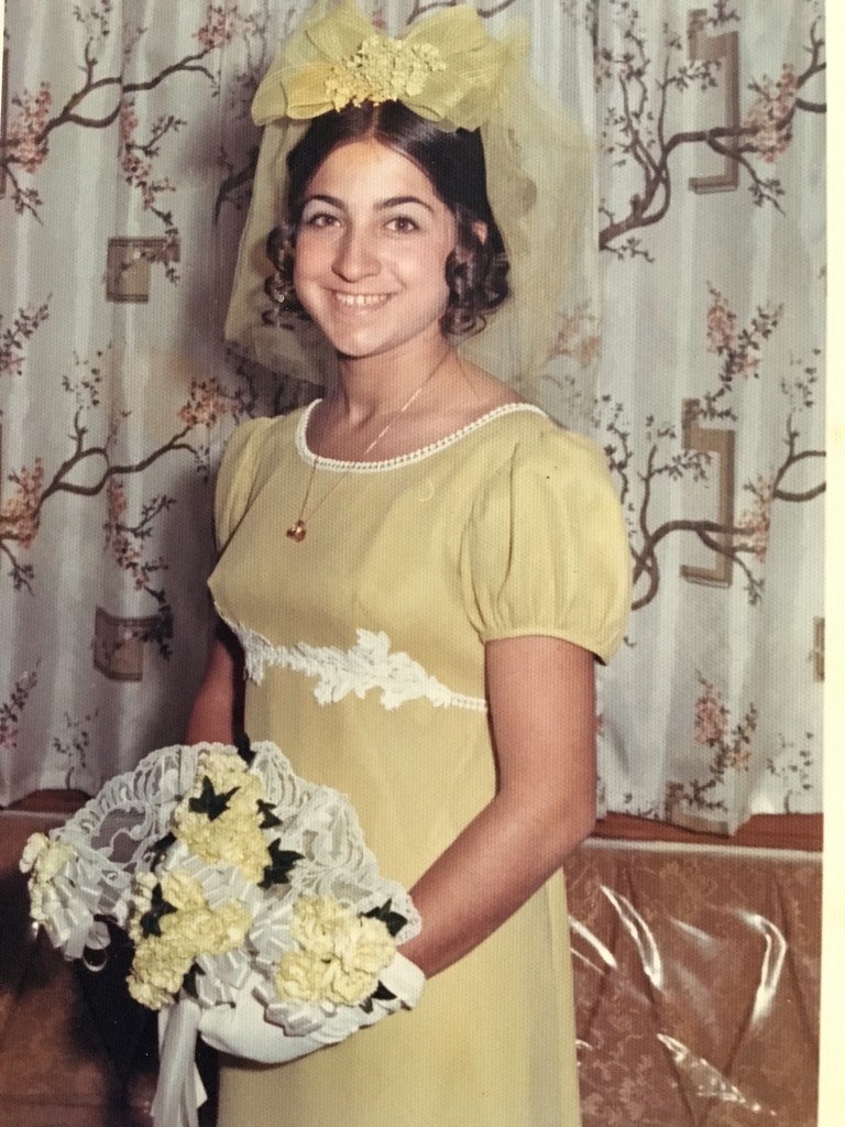 Jeanie as a bridesmaid