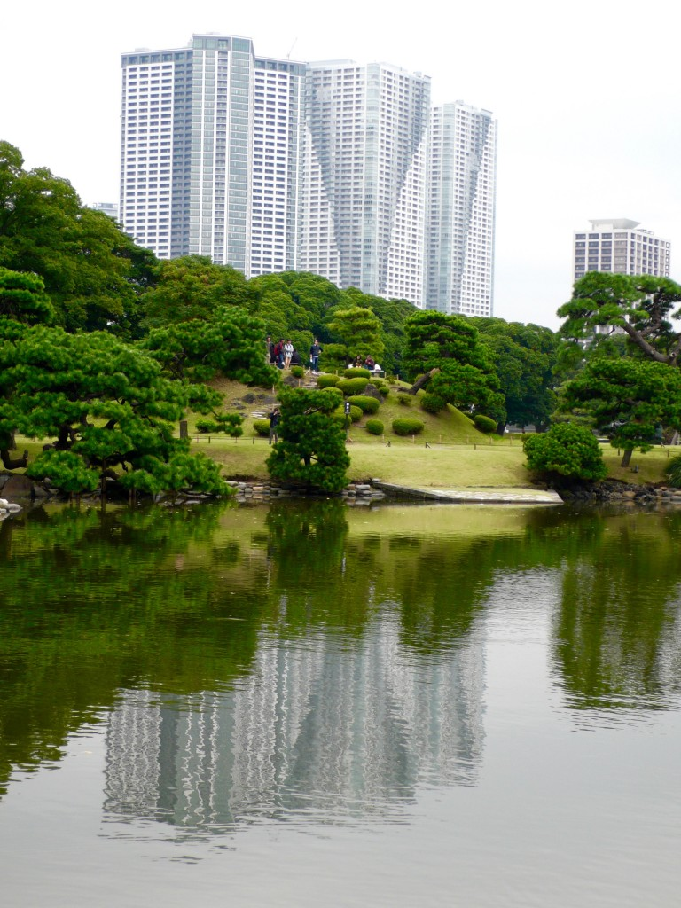 Well, what has changed is that this water only used to reflect pine trees and tea houses.  Now it reflects the skyscrapers of the grand city of Tokyo!  The land used to be duck hunting lands and falconry lands of the shogun and imperial families.