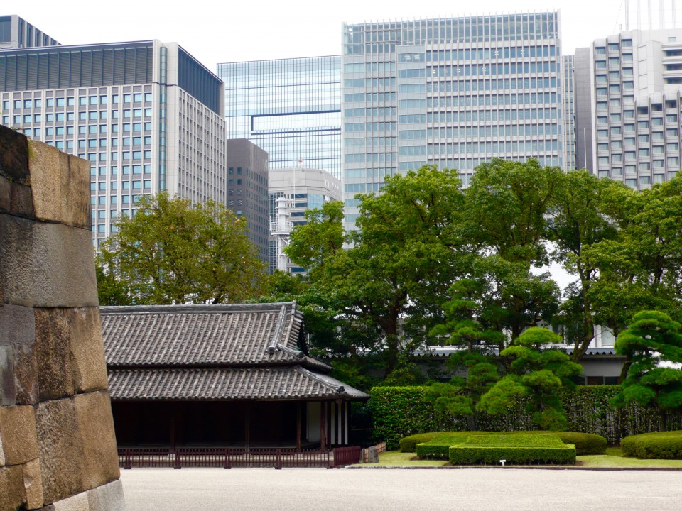 The last of the three remaining guard houses within the imperial palace gardens