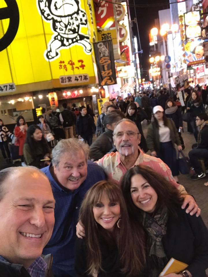 Last night in Osaka: Jeff, Kevin, Don, Karin, and Fran