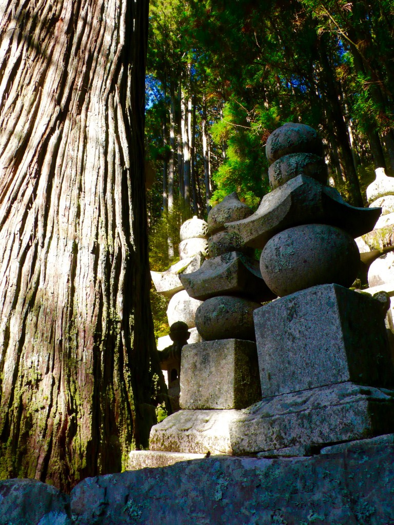 Mt Koya cemetery: Okunoin, situated in the middle of an ancient forest