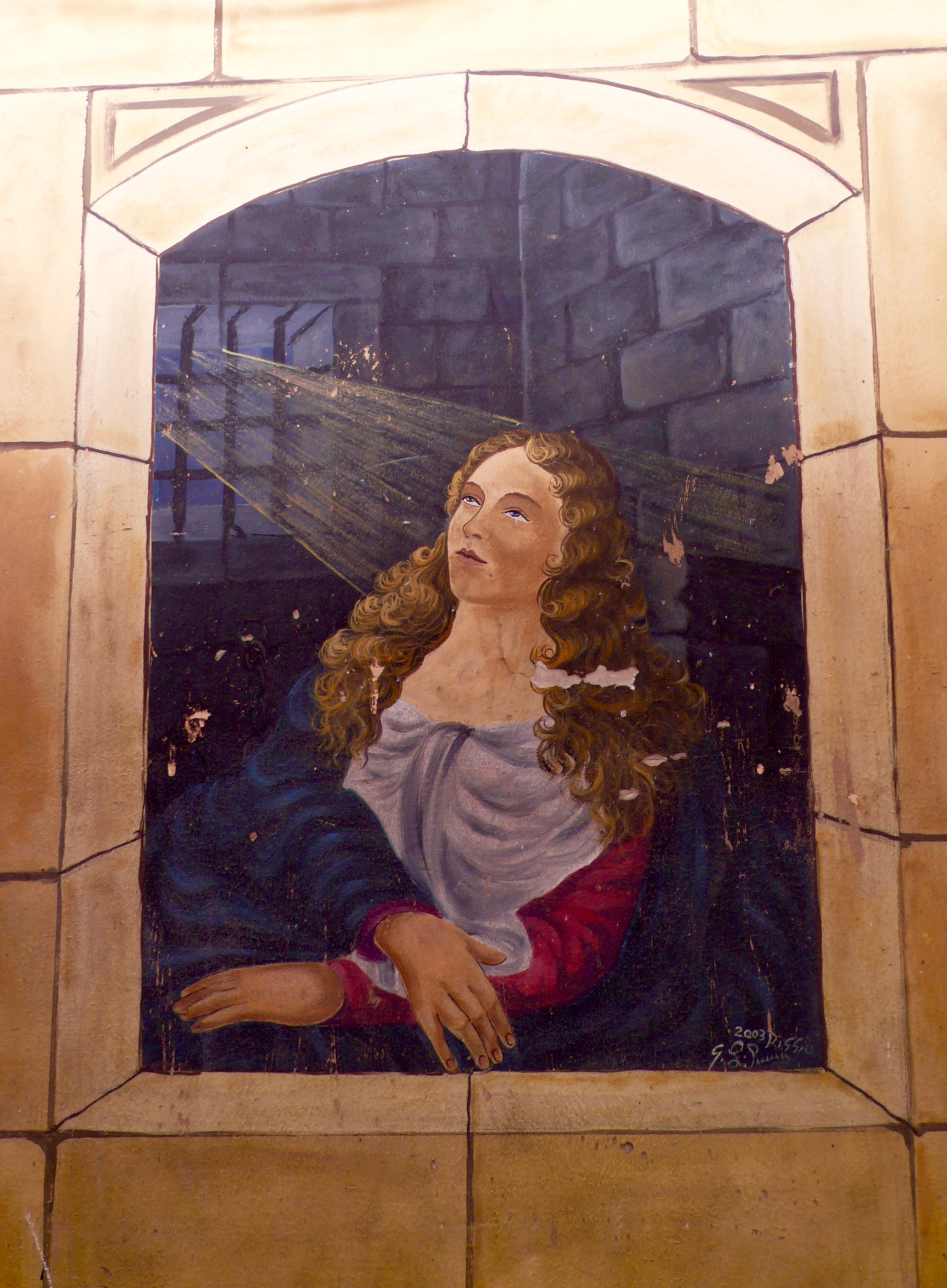 Santa Agata mural in the market in Catania