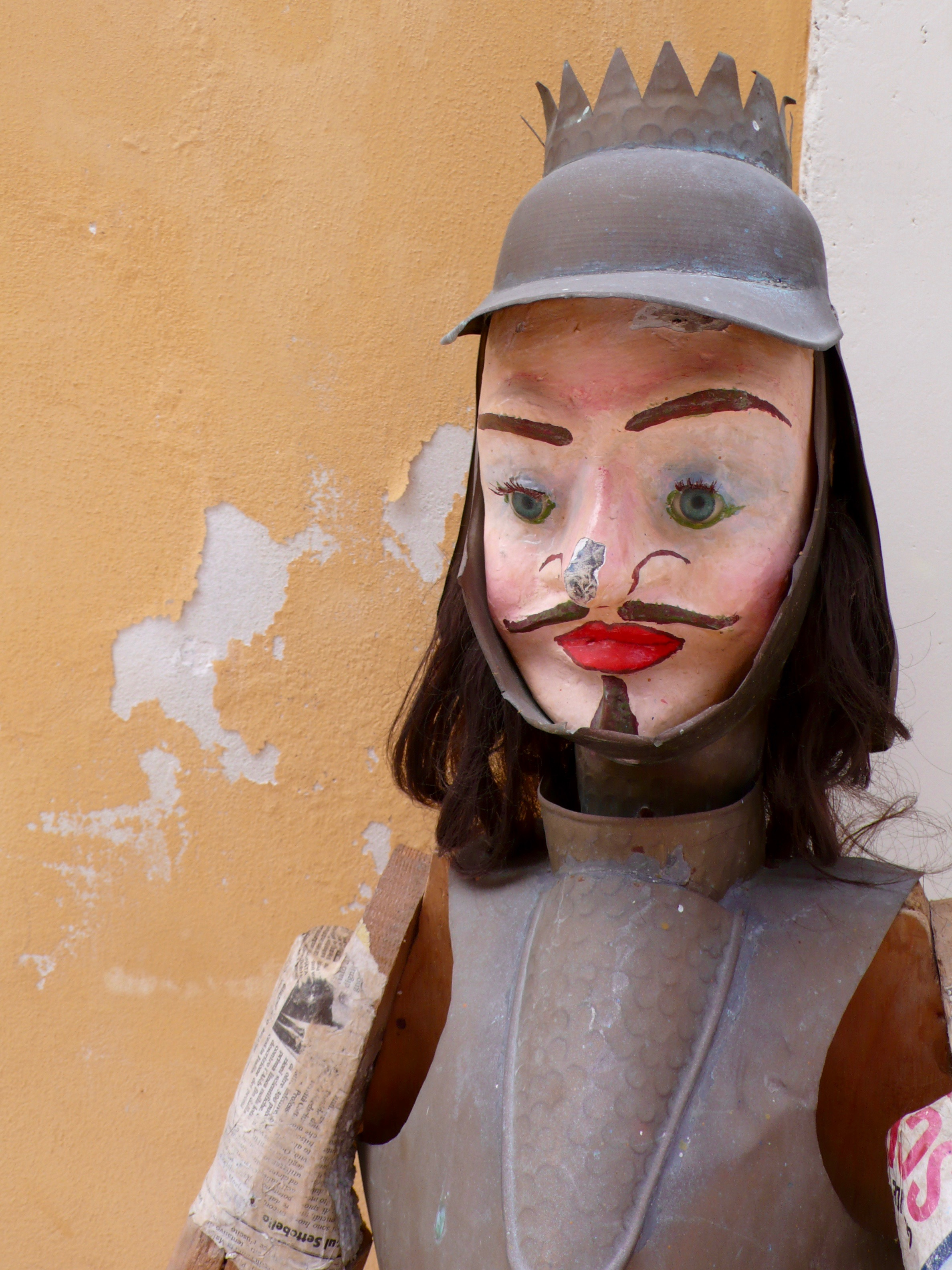 One of the pupi (traditional puppet). There is a puppet theater in Ortigia.