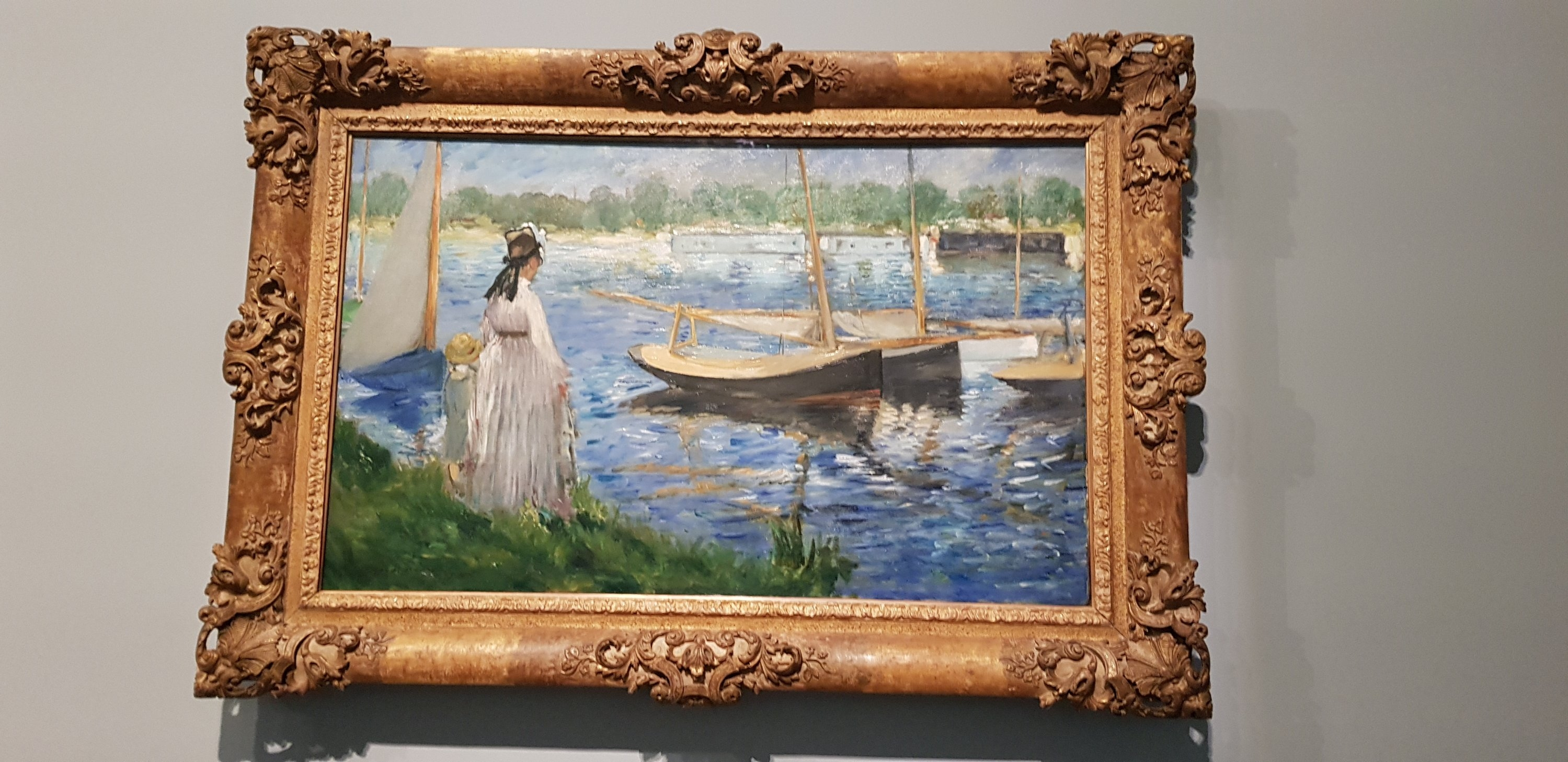 Impressionist painting from the exhibition at Fondation Louis Vuitton