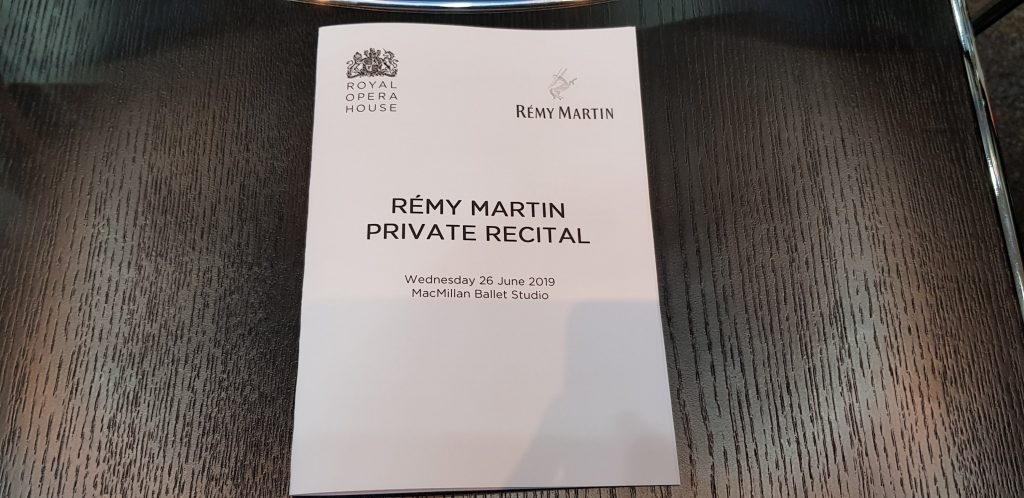 Rémy Martin Private Recital booklet of opera songs
