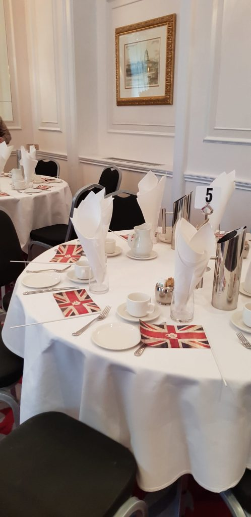 The table setting at A Right Royale Tea