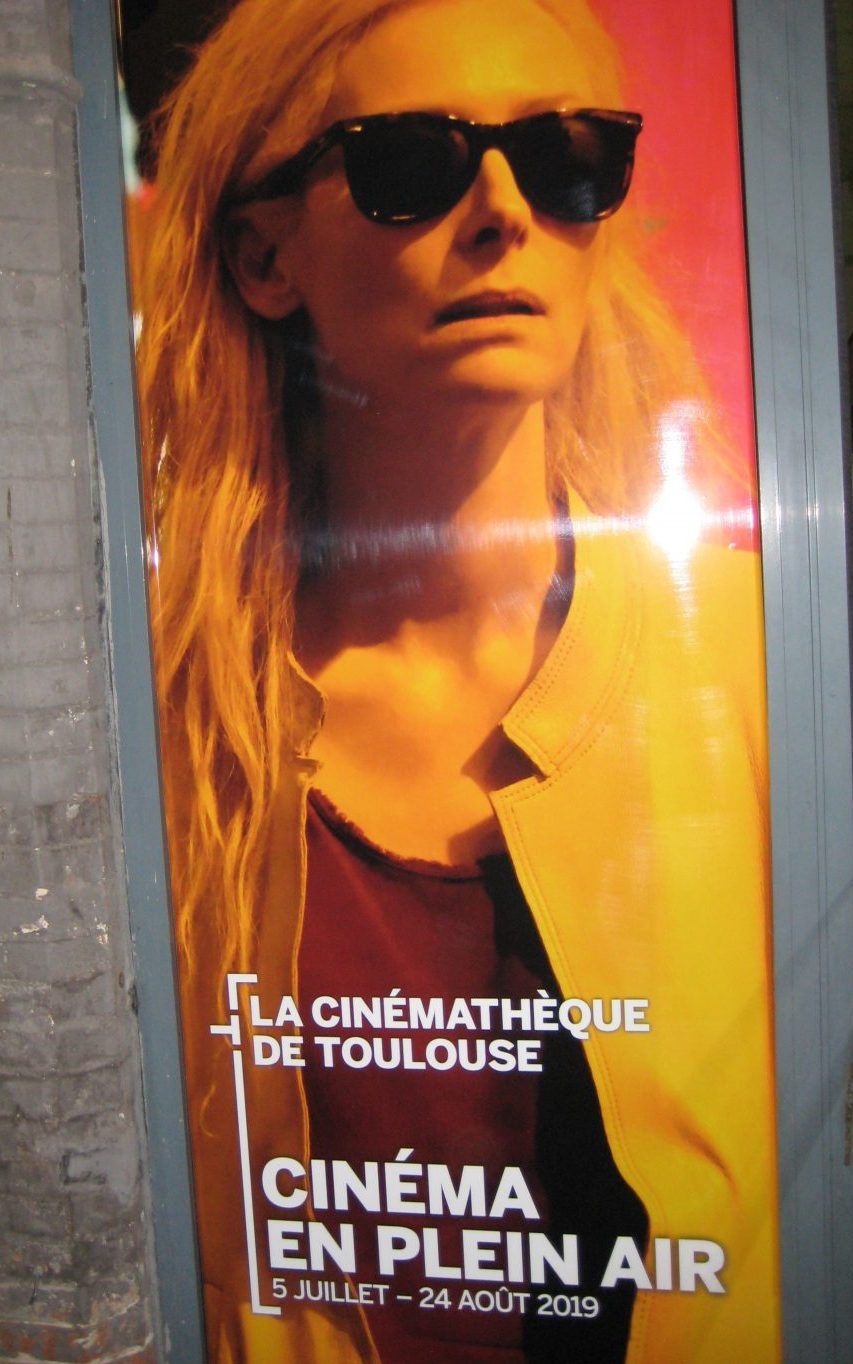 Open air film festival poster in Toulouse