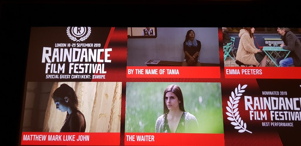 Selection of films in the Best Performance competition category at Raindance