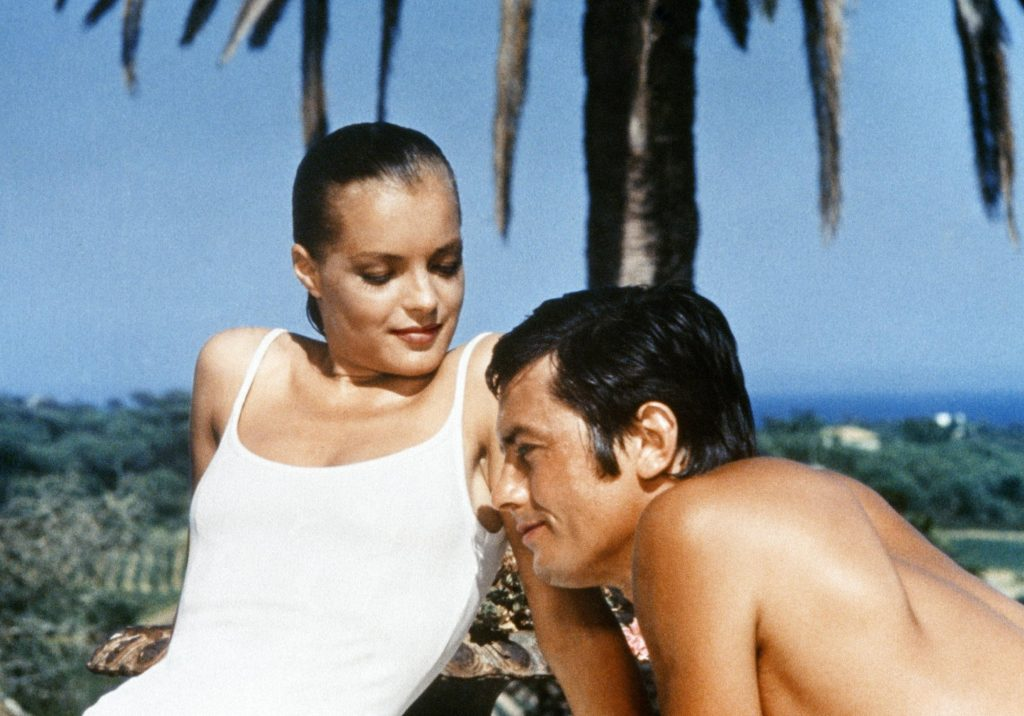 Romy Schneider and Alain Delon in The Swimming Pool