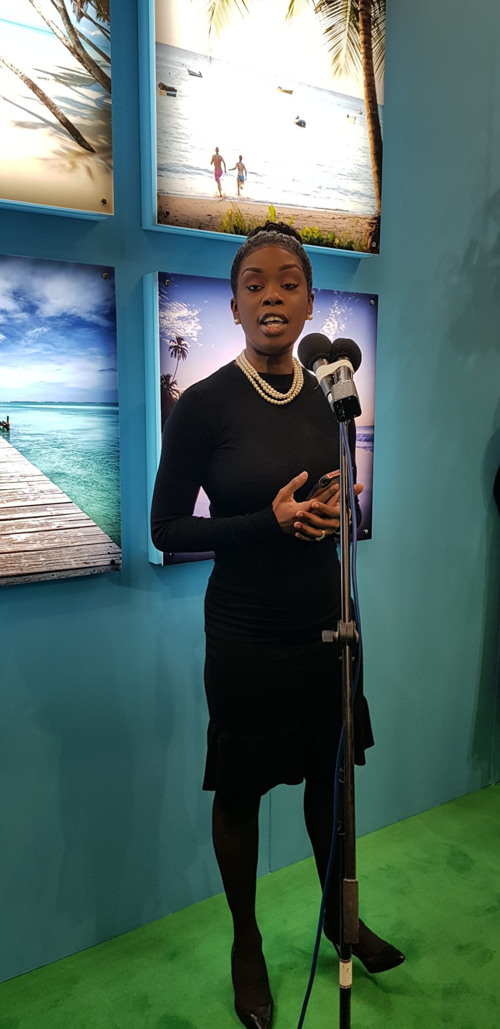 Nadine Stewart-Phillips at Tobago press conference at WTM