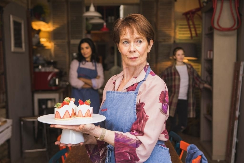 Celia Imrie, Shelley Conn and Shannon Tarbet in Love Sarah