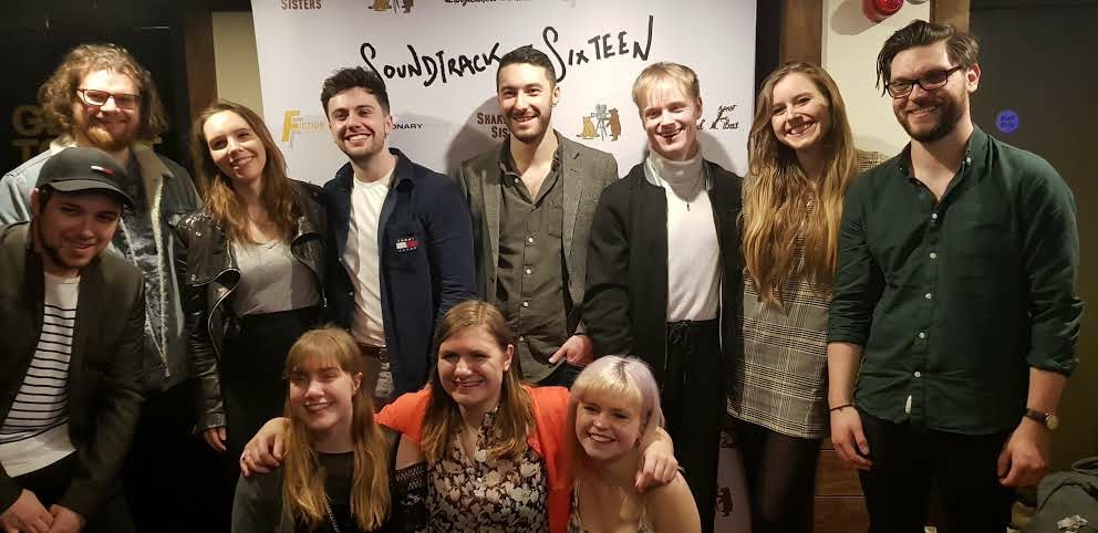The cast and crew at the Soundtrack to Sixteen premiere