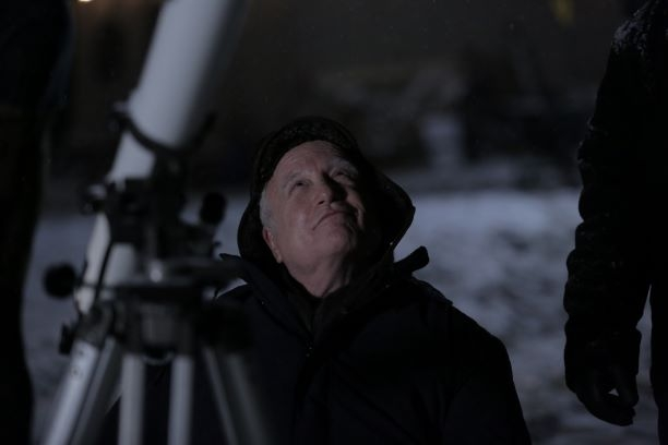 Angus viewing the stars in Astronaut