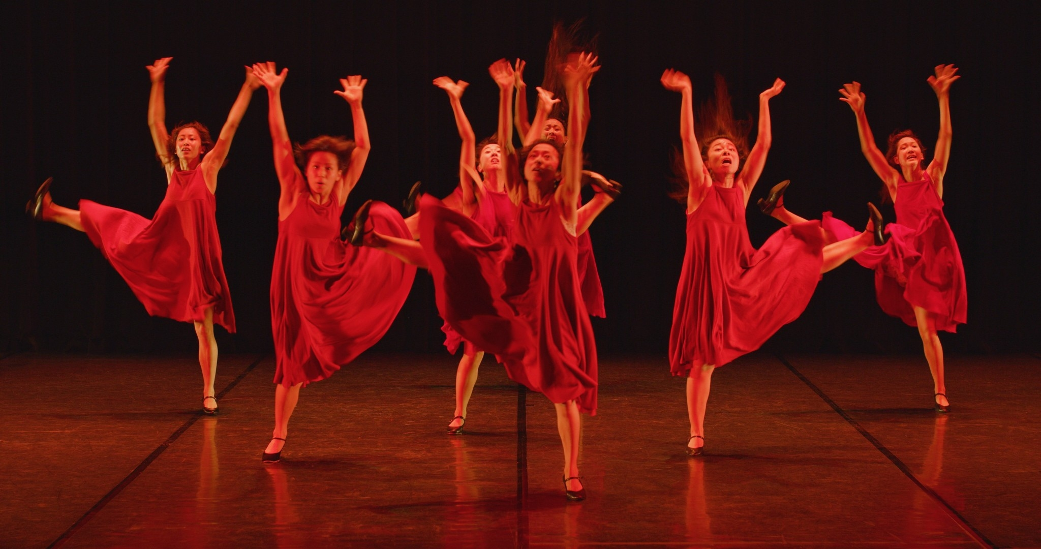 Ensemble dance performance in Dreams on Fire