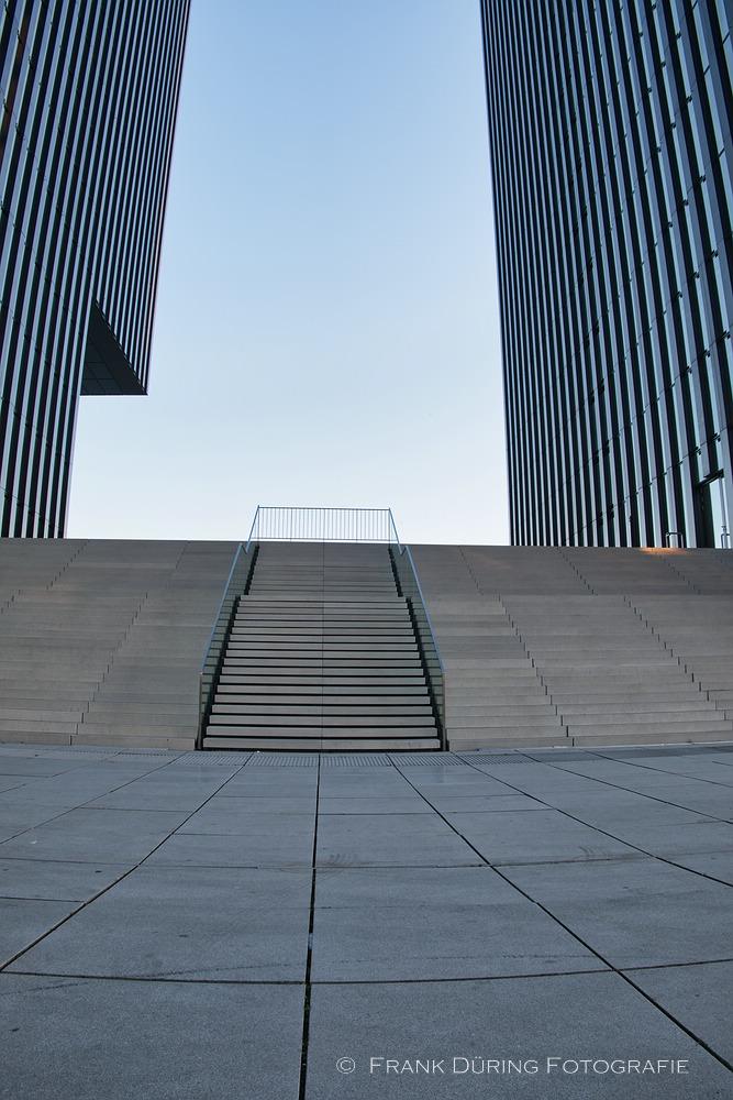 Linien, Symmetrie, Hyatt, Medienhafen, Düsseldorf