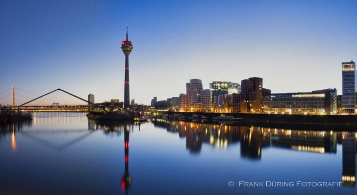 Düsseldorf, Skyline, Medienhafen, Panorama