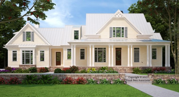 Farmhouse Plans   Frank Betz Associates GULFPORT Farmhouse Plans