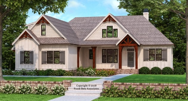 Country House Plans   Frank Betz Associates HEMLOCK FALLS Country House Plans