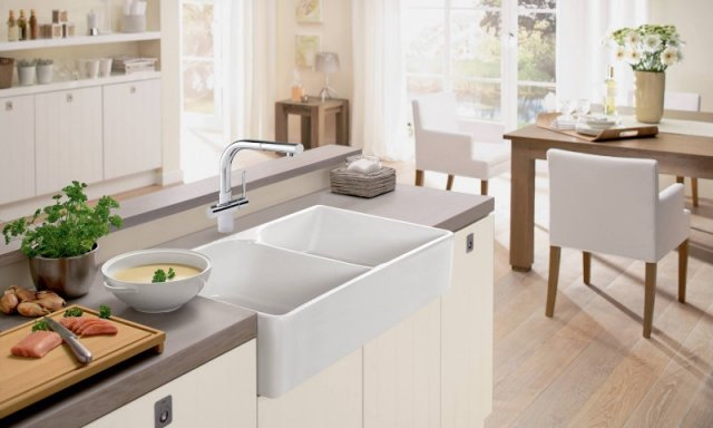 fireclay franke kitchen systems