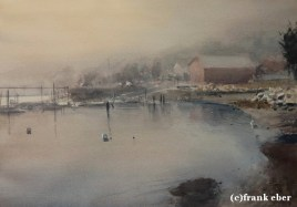 Moods of Belfast (2016) by Frank Eber | Atmospheric Watercolor Fine Art