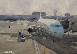 That's My Luggage! (2016) by Frank Eber | Atmospheric Watercolor Fine Art