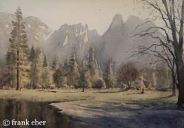 Northside Drive on the Merced [Cathedral Rocks] (2017) by Frank Eber. Through gallery.