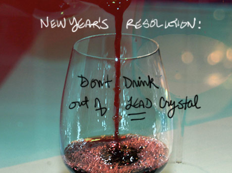 New Year s Resolution  Don t drink out of lead crystal   Franke James Are
